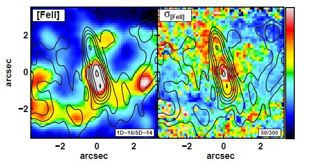 NGC613-SINFONI-Flux-velocitydisp-VLA