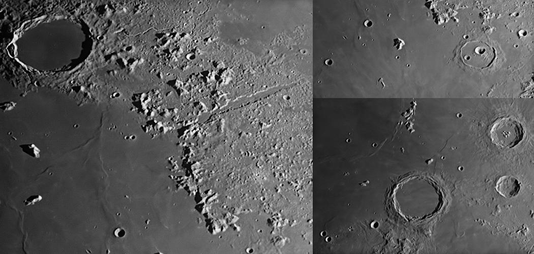 A Mare Imbrium északkeleti-keleti régiója